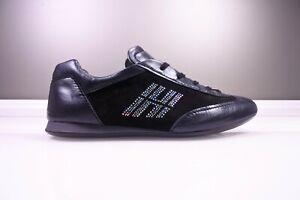 HOGAN Damen Leder Sneaker Schuhe Scarpa Schwarz Strass Steine  gr 40  top