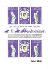 Gilbert 1978 25th Anniv Coronation QE Silver Jubilee Souvenir Sheet MNH (SC# 312