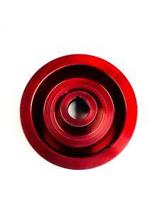 OBX Red Crank Pulley For Honda 88-00 Civic D15 D16 D16Y 88-91 CRX D15 D16