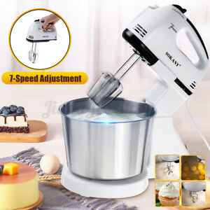 7 Speed Electric Dough Mixer Cream Food Blender Eggs Beater Whisk Processor 250W