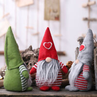 Christmas Heart Pattern Faceless Doll Decoration Xmas Party Ornament Gift Toys