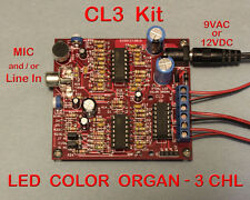 3 Channel LED Color Organ Kit - Light Organ Responds to Sound
