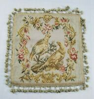 Antique French 19th C Aubusson Hand Woven Cushion 54x51cms without fringe