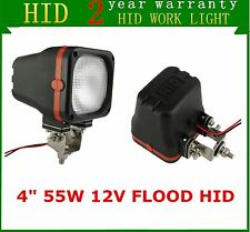 "2X 4"" 55W 12V Flood Beam Xenon HID Work Light UTE ATV Offroad Truck Jeep SC-AU"