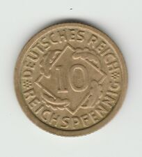 Germany Weimar 1934 E 10 pfennig VF+ rare