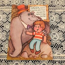 Vintage Greeting Card Father's Day Gorilla Boy Cute