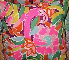 Lilly Pulitzer Rare Preppy Lulu Multi Flamingo Garnet Hill Fabric Throw Pillow