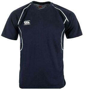 Canterbury Classic Dry Poly Training T Shirt Boys 13 14 Years Kids Football Rugb