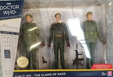 DR. WHO BOX SET ACTION FIGURES U.N.I.T. 1971 THE CLAWS OF AXOS