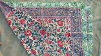 100% Cotton Sarong Pareo Cover up 180 X 110 CM Women Beach Wear Hand Block Print