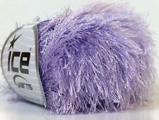Light Lilac Eyelash Yarn Ice Pale Purple Fun Fur 22773 50 gram