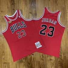 Chicago Bulls Road Finals 1997-98 Michael Jordan Jersey Red All Sewn