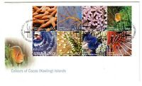 """2011 FDCx3 Cocos (Keeling) Islands. Colours. FV=$12. """"Flying Fish"""" Pictorial PMK"""