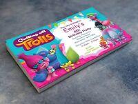 Personalised Trolls Invitations Birthday Party Invites & envelopes