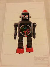 "Print # 15 ROBOT JAPAN CLASSIC TIN TOY SPACE 17 ""x11"" Ray Gun Mighty 8 1955 MINT"