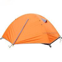 Double-layer 2 Person Windproof Waterproof Tent Camping Hiking 3 Season Orange