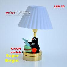 Child table LED LAMP Dollhouse miniature light battery Handmade 1:12 Kid baby