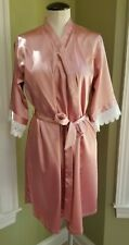 Rose/Pink Short Women's Robe and Belt, Small