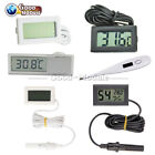 Black/White Aquarium Temperature Gauge LCD Digital Thermometer For FIish Tank
