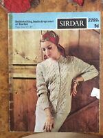 Womens knitting patterns.cardigans.size 34-40 inch bust.DK.Sirdar.cable pattern