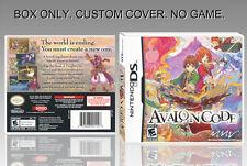 """NINTENDO DS : AVALON CODE. UNOFFICIAL COVER. ORIGINAL BOX. """"NO GAME"""". ENGLISH."""