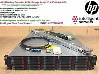 """HP D2700 Dual Controller 2U SAS Storage Array 25TB 2.5"""" Midline HDD"""
