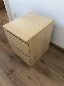 IKEA Malm Nachttisch, Kommode Beistelltisch mit 2 Schubladen Birke
