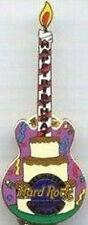 Hard Rock Casino TAMPA 2004 HAPPY BIRTHDAY CAKE GUITAR PIN Players Club #28765