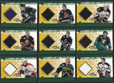 Lot of 9 different 2002-03 Bowman YoungStars Jerseys Hockey Cards $76 BV