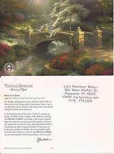 "Thomas Kinkade,""BRIDGE OF HOPE"" Two (2) Postcards , NEW"