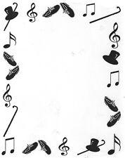 Unmounted Rubber Stamp, Dance Frame, Dancer, Tap, Scrapbook Stamps, Frames Music