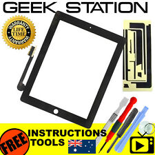 for Apple the new iPad 3 4 Digitizer Touch Screen Replacement glass front black