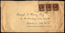 CANADA US 1918 WAR TAX STAMPS USED AS POSTAGE QUEBEC TO WAUKEGAN