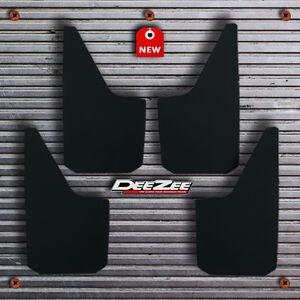 Universal Fit Mud Flaps Splash Guards DeeZee Black Composite 4 pcs - Ford