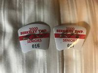 Berkeley Township NJ Lot of (2) Beach Badges - 2000 Season - Seniors
