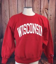Red Vtg Champion Reverse Weave Wisconsin Badgers Sweatshirt size Large