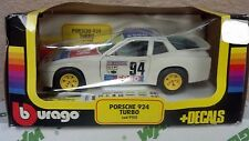 Bburago (Italy) White/Red/Blue Porsche 924 Turbo Grand Prix.2 1:43 NIB New RARE