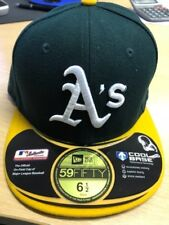 NEW ERA OFFICIAL 59FIFTY OAKLAND ATHLETICS A's Kid's Fitted Baseball Cap * 6 1/2