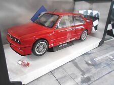 BMW M3 E30 Evo Sport 1986 rot red Solido Metall NEU 1:18