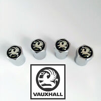 Chrome Vauxhall Black Wheel Valve Dust Caps. Corsa Antara Astra Insignia Adam