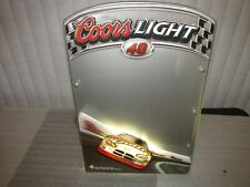 Coors Light Nascar Sign lighted #40 Sterling Marlin 2004 message board Rare