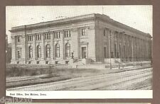 Vintage Postcard 1911 Post Office Des Moines Iowa