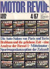 Motor Revue April 1967 Formula 1,Ferrari German Auto Magazine 051617nonDBE