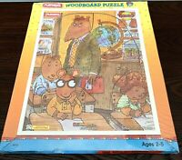 NIP Vintage 1997 Playskool Arthur Writes a Story WoodBoard 10 piece Puzzle