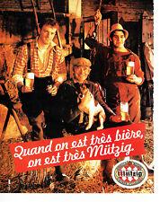 Publicité Advertising 078  1983    bière Mutzig  fermiers