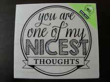NEW Hero Arts Nicest Thoughts Rubber Stamp K5878