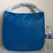 NWT Marc by Marc Jacobs Take Your Marc Leather Hobo Satchel Bag $438 AQUAMARINE