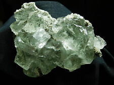 VERY TRANSLUCENT Light Green Fluorite Crystal CUBES! in a Cluster! 368gr