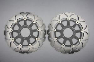 Paire disques frein avant wave 305mm pour Ducati Hypermotard 1100 EVO 2010-2012