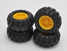Lego Technic Reifen Satz 56x26 gelbe Felge